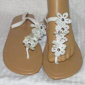 Women's Floral Thong Sandals Strap Back